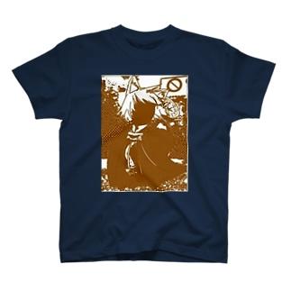 イラストとコラージュ T-shirts