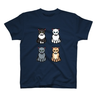 エジプト座りしながら様子を伺う猫 T-shirts