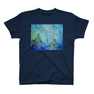 透明な青に包まれて T-shirts