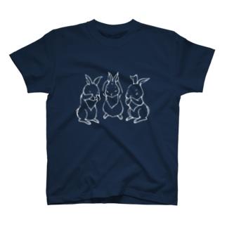 三兎 白線 T-shirts