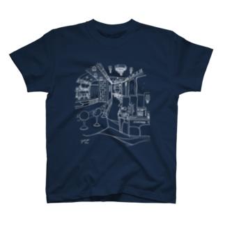 気ままに創作 よろず堂のレトロ純喫茶 白 T-Shirt