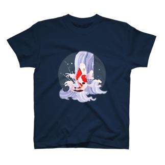 鯉の滝登り T-shirts