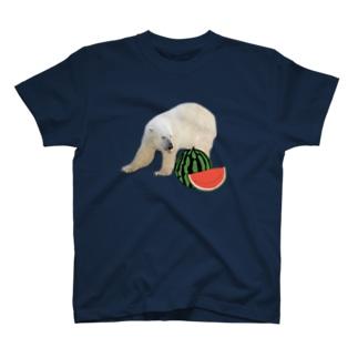 シロクマとスイカ T-Shirt