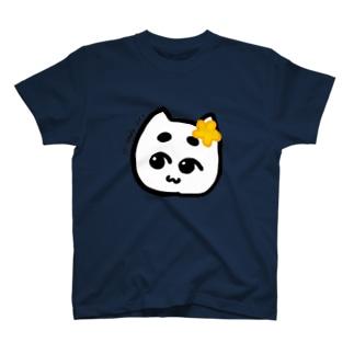 花飾りぽこにゃん T-shirts