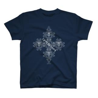 ERIKOERIN ART SHOPのlyricchordスター白ライン/ドローイングアート T-Shirt