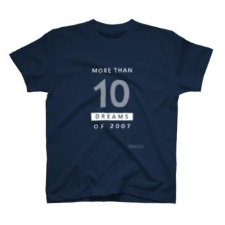 MORE THAN 10 DREAMS OF 2007(ボーダー柄/反転カラー) T-shirts