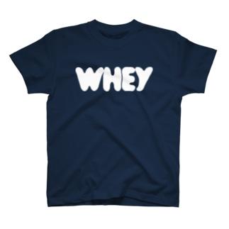 ホエイロゴ ホワイト  T-shirts