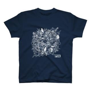 POKASUKA_white T-shirts