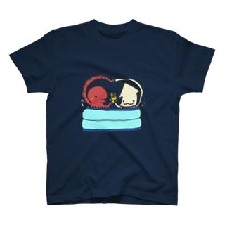 たこいかアベック T-shirts