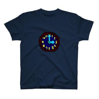 時計アイコン(文字盤付) T-shirts