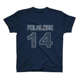 folklore(刺し子ステッチ風) T-shirts