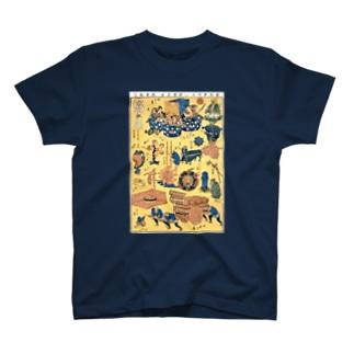 新板車つくし【浮世絵・おもちゃ絵】 T-shirts