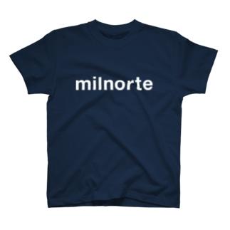 ミルノルテ白ロゴタイプ  T-shirts