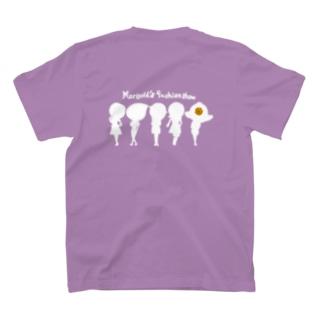 ちょりたん画伯キャラクターズショップのマリーゴールドちゃんのファッションショー シルエットバージョン T-shirts