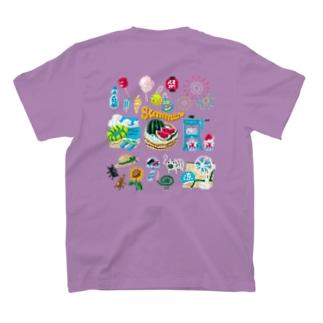 【バックプリント】 ドットSummer no.2 T-shirts