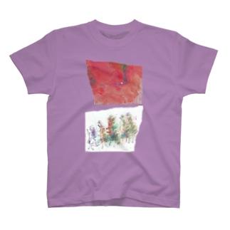 せなかに走り書き(frontなし) T-shirts