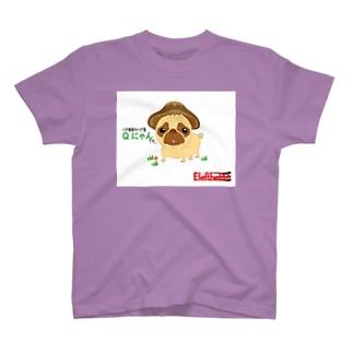 パグ椎茸QにゃんT-SH① T-shirts