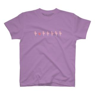 フラミンゴ&ハイビスカス T-shirts