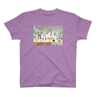 葛城のいわはし夜間工事 T-shirts