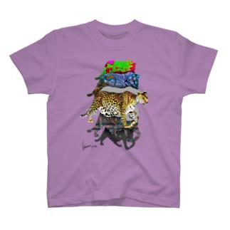 『Leopard changes its spots.』DEGITAL Ver. T-shirts