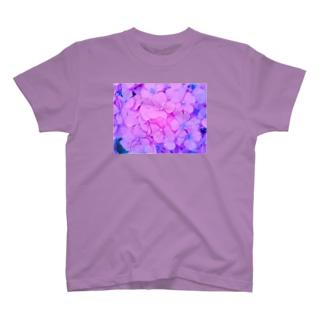 あじさい むらさき T-shirts