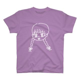 乙女ちゃん【シロver.】 T-shirts