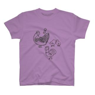 ニワトリ家族 T-shirts
