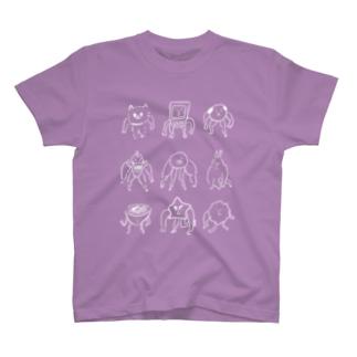 落書きさん、ヨーイドン(白抜き) T-shirts