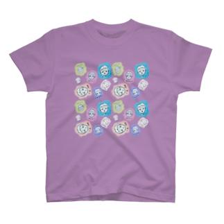 四方八方、顔 T-shirts