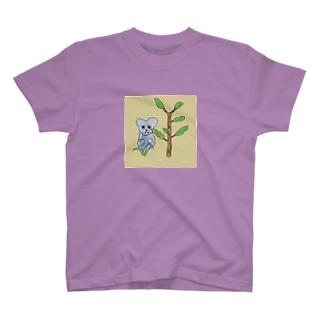 コアラと植物 T-shirts