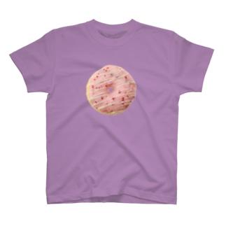 イチゴチョコがけドーナツ T-shirts