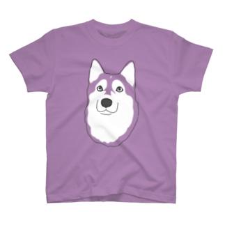 カラフルハスキー T-shirts