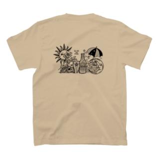 la vie en roseのheaven (モノクロ) T-shirtsの裏面