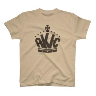 王冠ロゴ・グレー T-shirts
