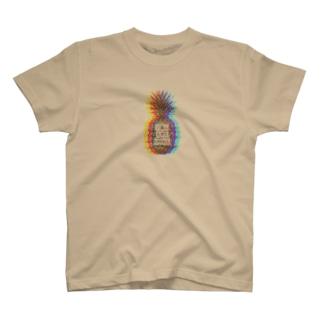 パイナップル Rainbow T-shirts