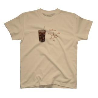 カフェイン アイスコーヒーバージョン T-shirts