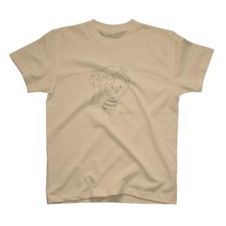 かわいい主婦の1日 花かんむりグレー T-shirts