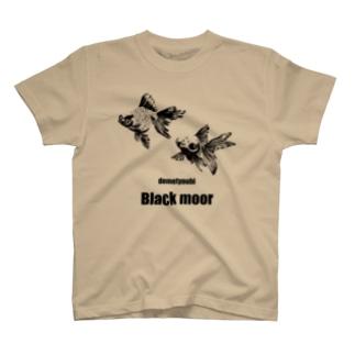 黒出目金-Black moor- T-shirts