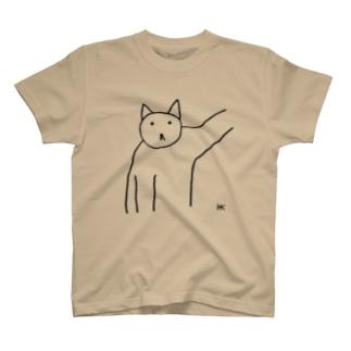 ねこちゃん壁ドン T-shirts