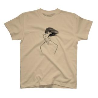顔が切れた人のTシャツ T-shirts