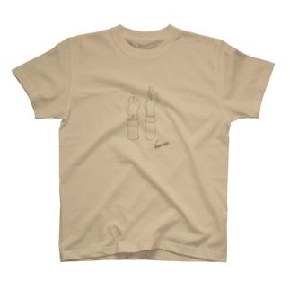 埴輪(はにわ)-踊る男女《線色:黒》 T-shirts