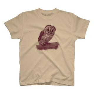 フクロウの巣立ちびな(★寄付) T-shirts