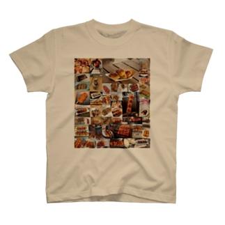 みんな大好き!焼きまんじゅう(前面) T-shirts
