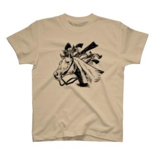 たてがみ銃の馬 T-shirts