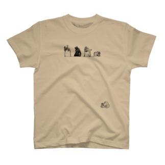 コケギンポ5兄弟(白黒) T-shirts