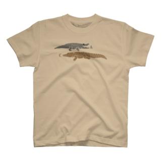 AWZアリゲーター&クロコダイル(色文字) T-shirts