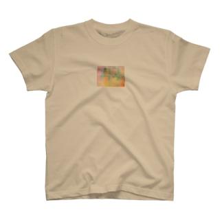 ゆるいチェック やさし色 T-Shirt