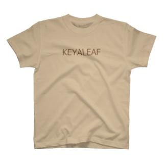 ケヤリーフ ロゴ(ブラウンロゴ) T-shirts