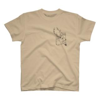 鹿飛び出し注意 T-shirts
