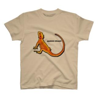 フトアゴ(レッド系) T-shirts